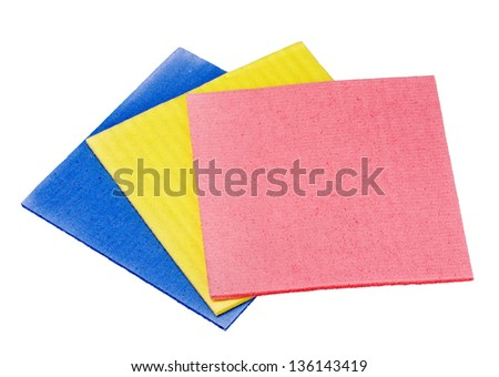 Three sponge from cellulose - stock photo