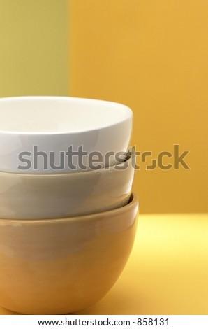 Three stacked Bowls - stock photo