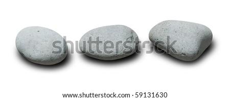 three stones - stock photo