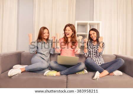 And shame! Three friends on couch xxx you have