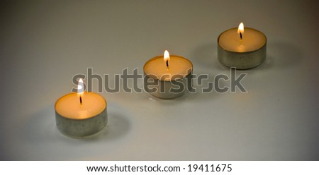Three tea lights
