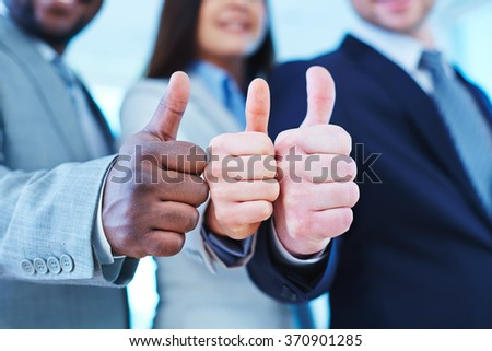 Three thumbs up