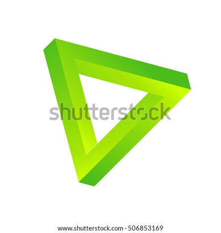 Three triangles logo element innovative and creative inspiration for business company.