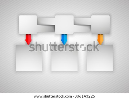 Three versions of your plans, you can use a web banner, infographics and other data. - stock photo