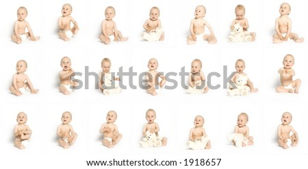 Three weeks with my son - stock photo