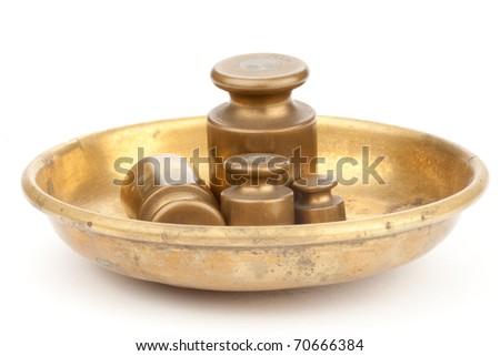 Three weights - stock photo