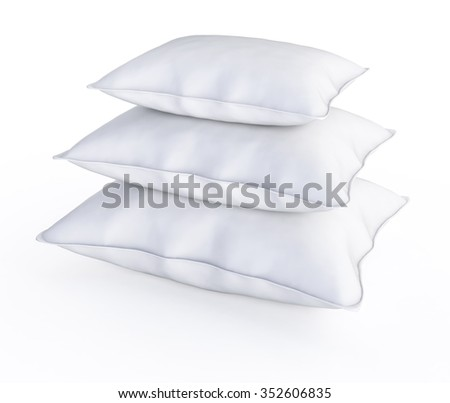 Three white pillows