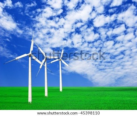 three wind turbine