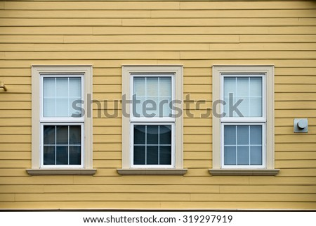 Three windows - stock photo