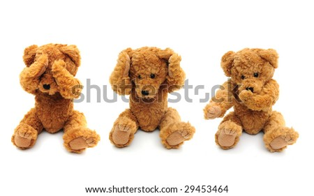 Three wise bears - stock photo