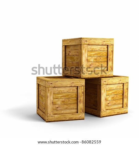 Wood shipping crate stock images royalty free images for Where do i find wooden crates