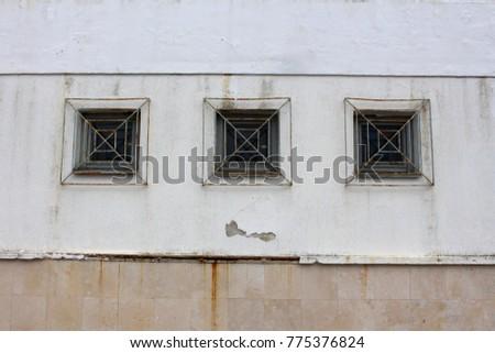 Three Wooden Frame Rectangle Glass Windows Stock Photo (Royalty Free ...