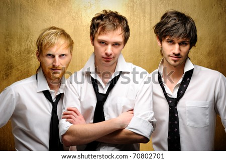 Three young handsome guys