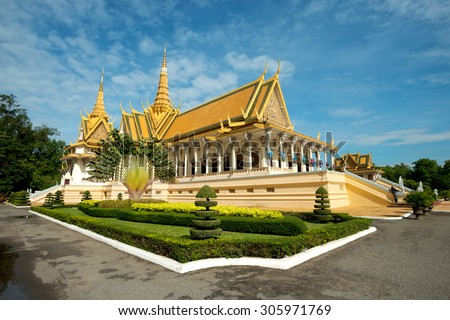 Throne Hall in the Royal Palace Compound, Phnom Penh, Cambodia