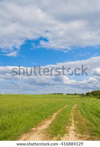 Through the Green Acres Wild  - stock photo