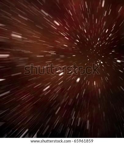 through the universe - stock photo