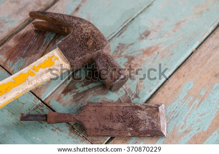 Through the use of a Tools. - stock photo
