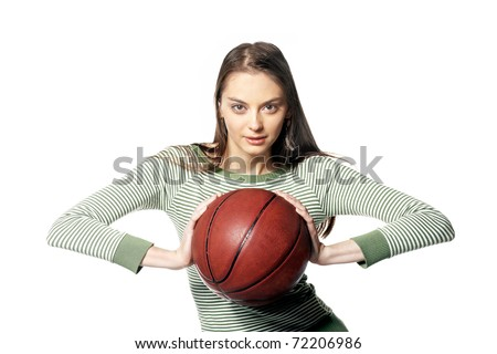 Throw - girl with ball in hand