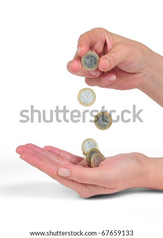 throwing currencies - stock photo