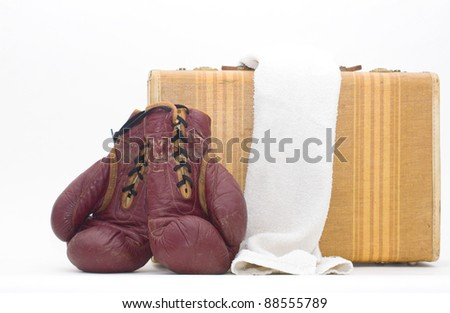 throwing in the towel - stock photo