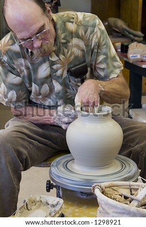 Throwing pottery 12
