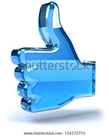 Thumb icon - stock photo