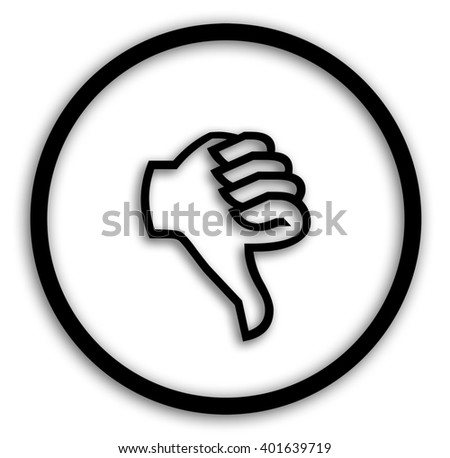Thumb up down voting buttons - stock photo