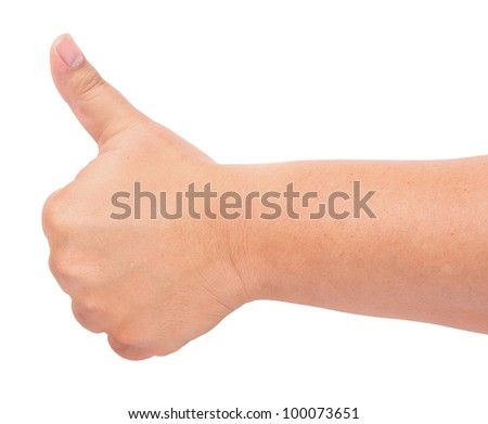 thumb up gesture - stock photo