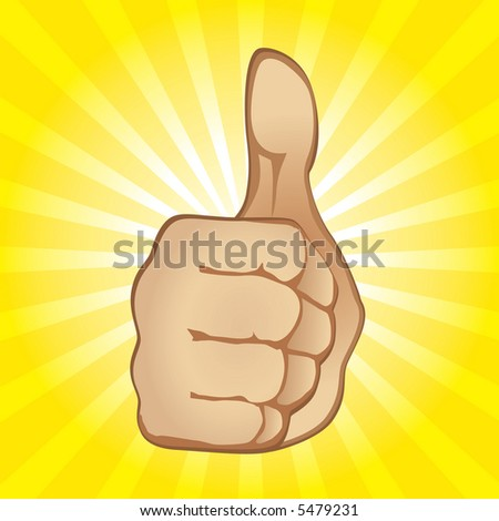 Thumb Up Gesture (also available vector version in this gallery) - stock photo