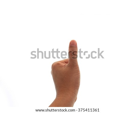 thumb up isolated with white background