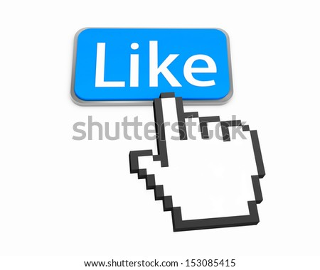 thumb up like good social media share 3d symbol icon button illustration