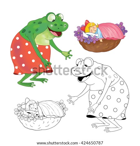 Fairy Tale Illustration For Children Coloring Book Pages Funny