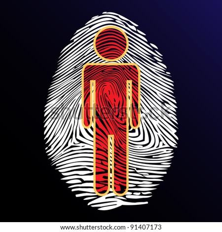 Thumbprint identity - stock photo