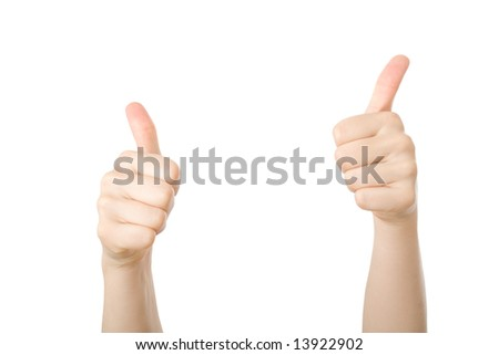 Thumbs up. Concept for agreement, positive, great...