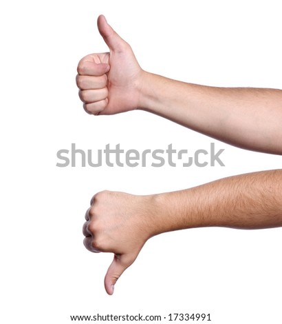 Thumbs Updown Concept Agreement Positive Great Stock Photo 100
