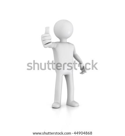 Thumbs Up Figure - stock photo