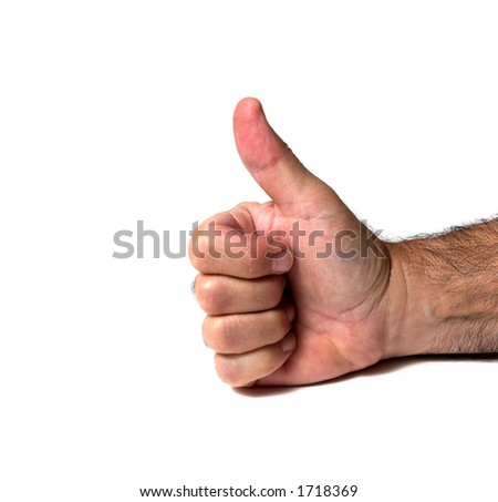 Thumbs Up Isolated on White
