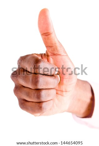 Thumbs up - isolated over a white background - stock photo