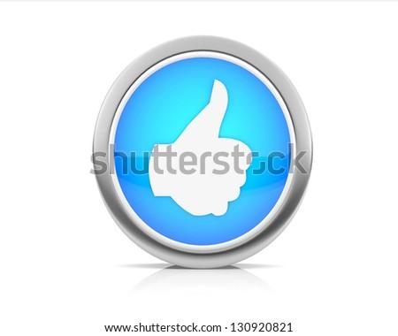 Thumbs up like  share - stock photo