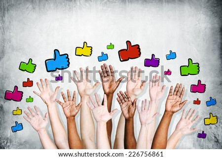 Thumbs up symbol. - stock photo