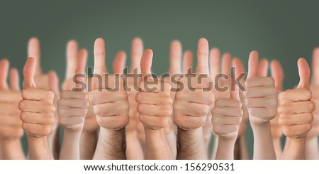 thums up at school - stock photo