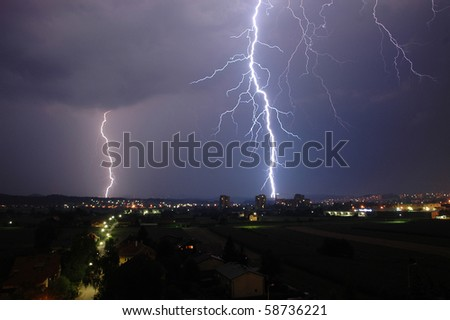 Thunder and Lightning - stock photo