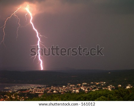 Thunder over my village..