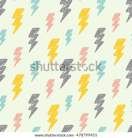 Thunder seamless background