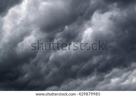 Thundercloud background - stock photo