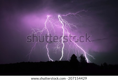 Thunderstorm - stock photo