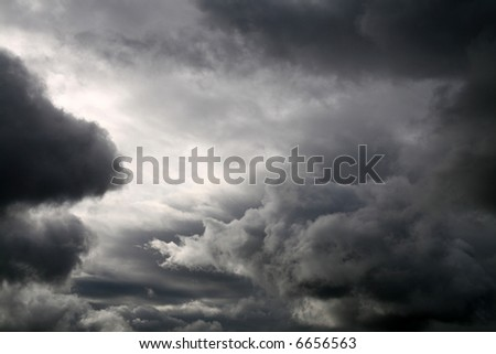 thunderstorm coming,  latin: Nimbostratus - stock photo