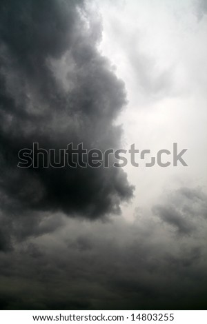thunderstorm coming,  latin: Nimbostratus (Ns)... - stock photo