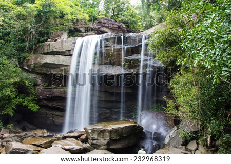 Thung Na Muang Waterfall , Ubon Ratchathani in thailand