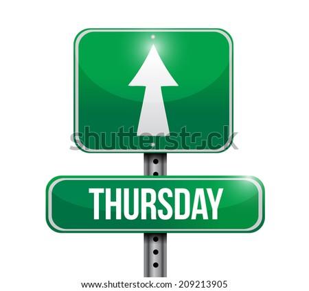 thursday street sign illustration design over a white background - stock photo